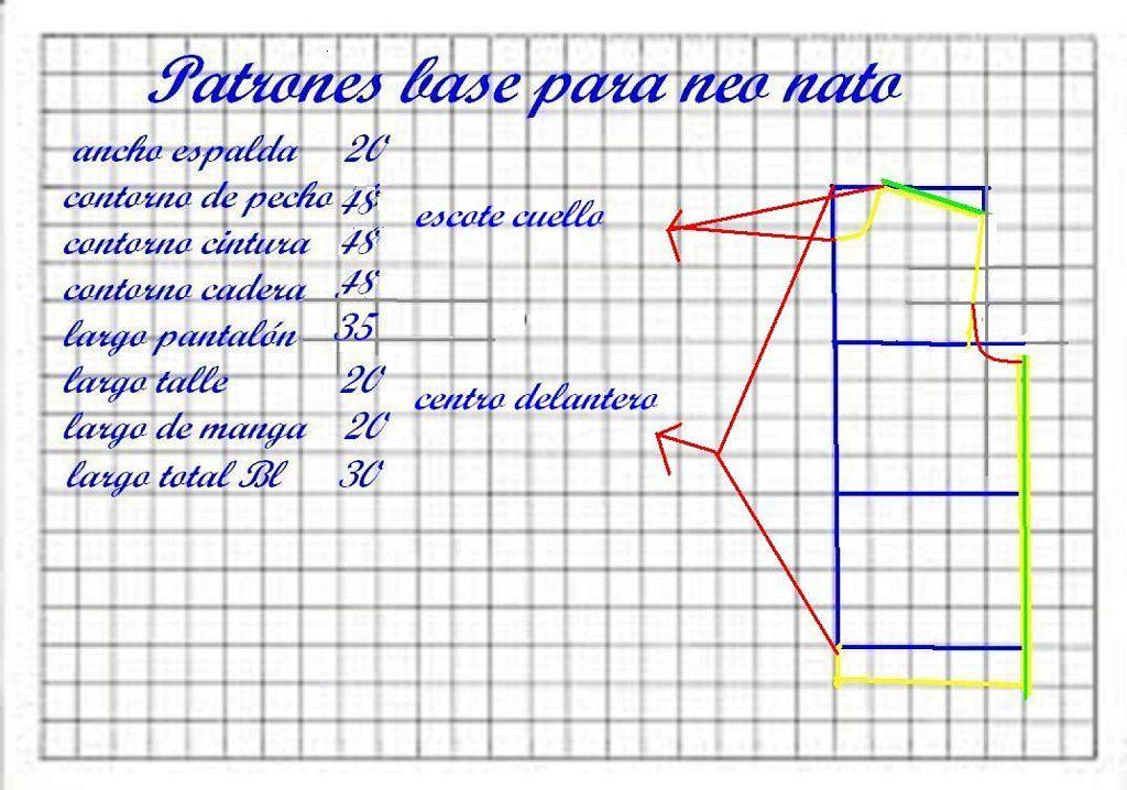 Aprendemos a trazar los patrones para ropa de bebé | cosas de mis ...
