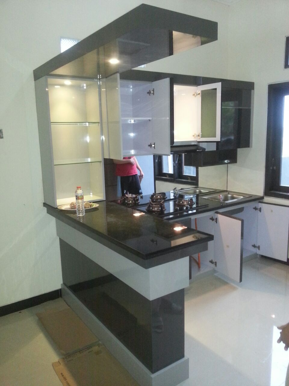 kitchen set mini bar   Rumah kantor, Interior, Interior rumah