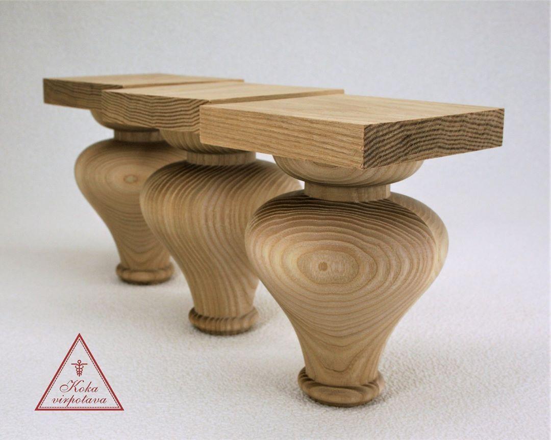 Mebelu Kajinas Pec Pasutijuma Custom Made Turned Wooden Legs