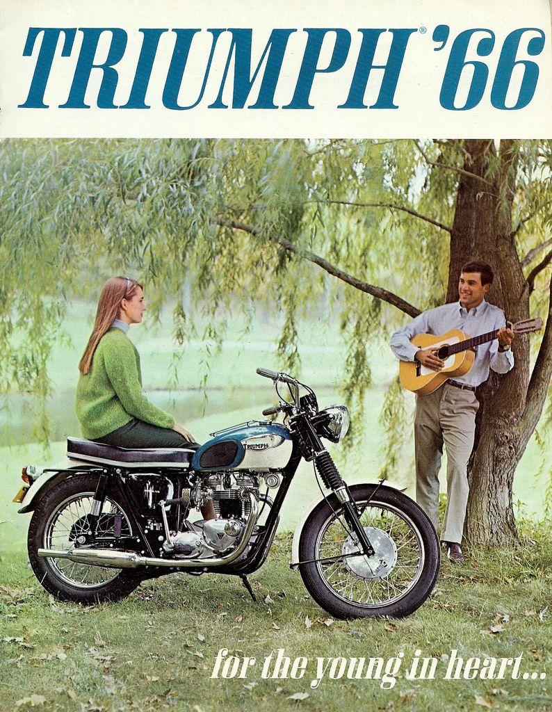 No Rebellion Here Vintage Triumph Ads Triumph Motorcycles Vintage Motorcycle Posters Triumph Bikes
