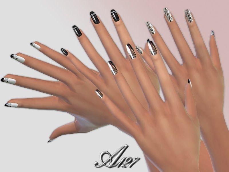 http://altea127simsvogue.blogspot.fr/2015/02/black-and-white-nail ...