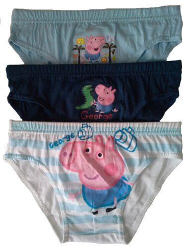 6cb14c9b9543 Boys Peppa Pig George Briefs Pants Underpants Underwear - 3 Pack - Official  Licenced 100%