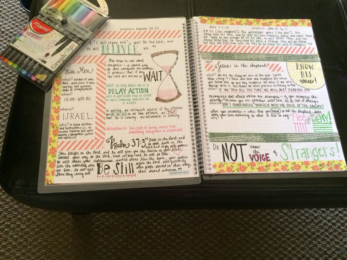 Scripture journaling has opened my eyes to an entirely new ...
