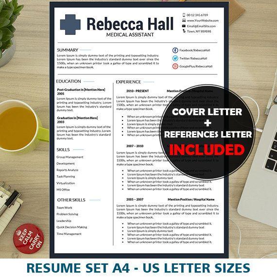 Nurse Resume Template, Medical Resume Template, Nursing CV, Resume