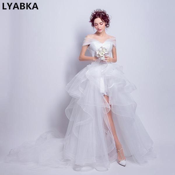 Vestido De Noiva Summer High Low Beach Wedding Dress 2017 Sexy ...