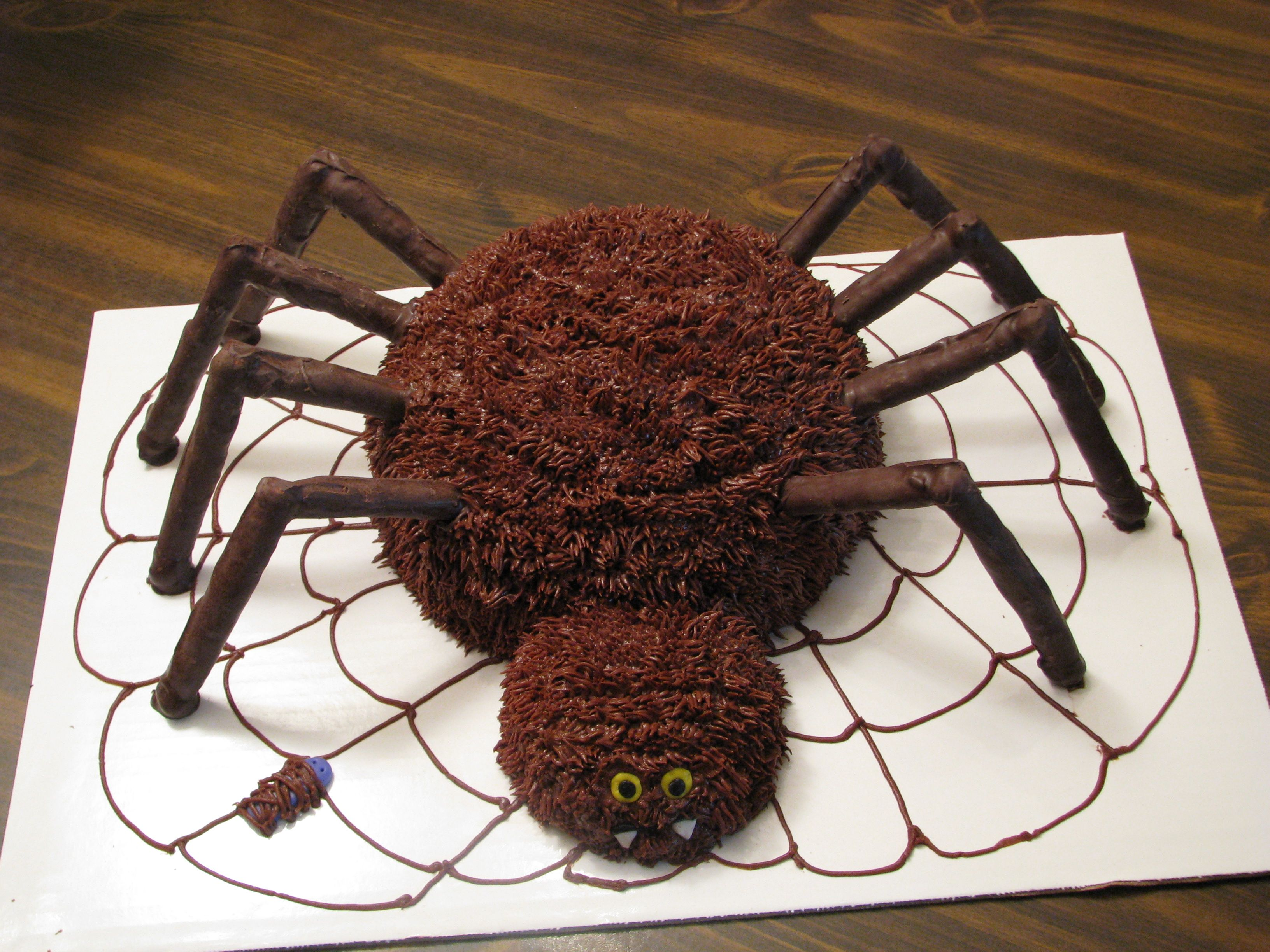 Made this cake for fall festival at school cakes for How to make halloween cupcake cakes
