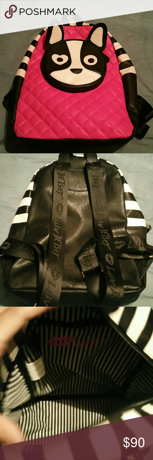Betsey Johnson backpack New never used... so so cute Betsey Johnson Bags