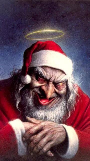Bad Santa Claus Christmas Humor Scary Christmas Funny Christmas Songs