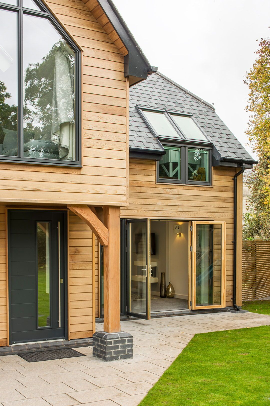 Self Build / Front Exterior House. Timber frame house with ...