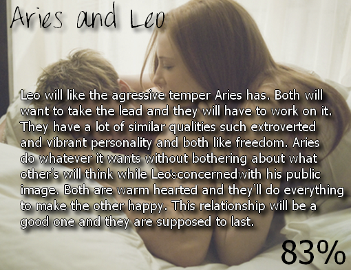 leo woman dating an aries man