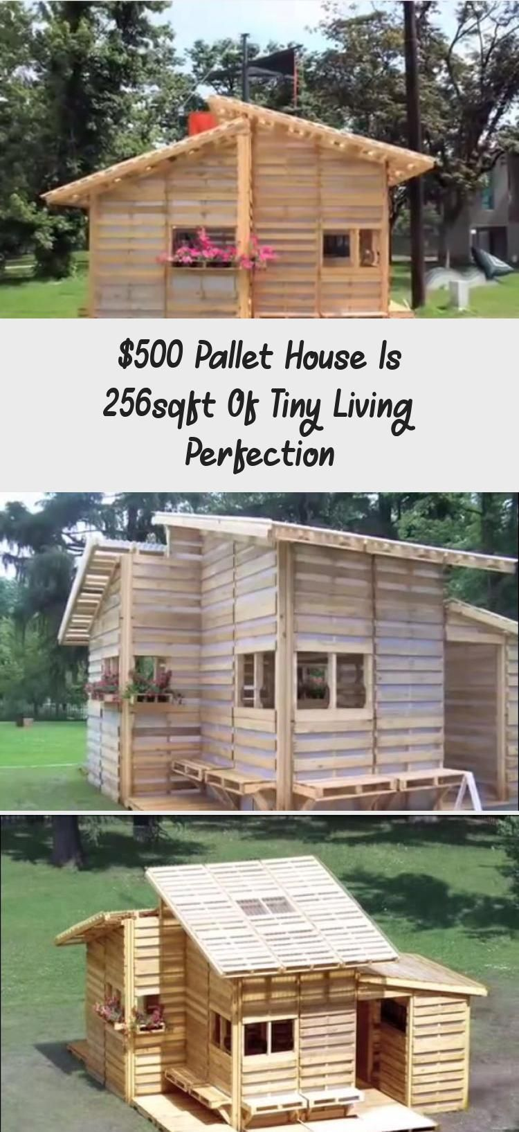 Tiny Pallet House Built For 500 Tinyhousebedroom Tinyhouseonwheels Tinyhouse Built House Pallet Tiny Tin Pallet House Pallet House Plans Pallet Shed