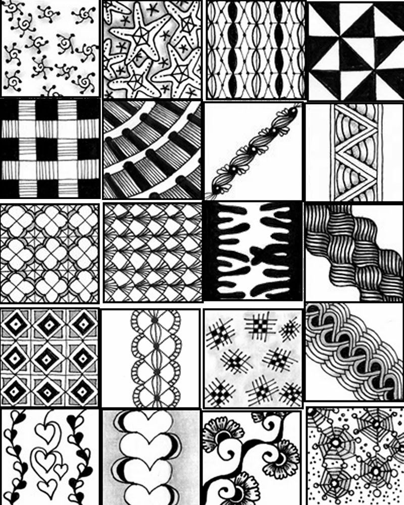 Impeccable image regarding zentangle patterns printable