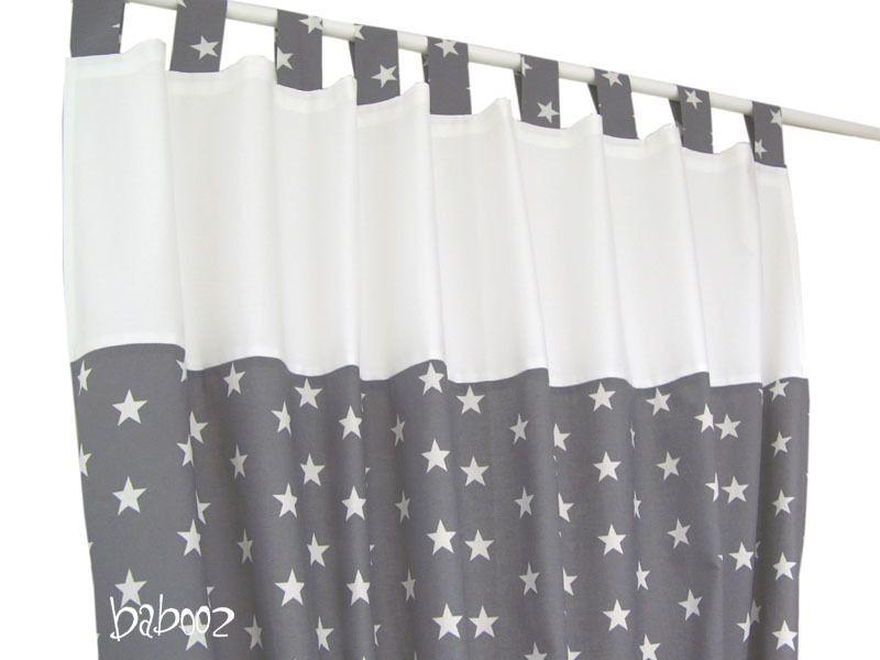Gardinen Stern grau Gardinen, Sterne und Grau - babyzimmer sterne photo
