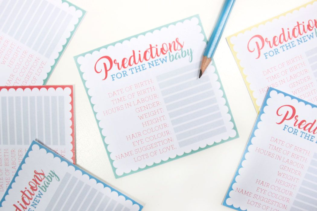 Baby Shower Card Printable ~ Free printable baby shower prediction cards free printable