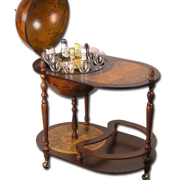 Alkohol Aufbewahrung Möbel deluxe profi globus bar globusbar 110x81cm hausbar minibar regal