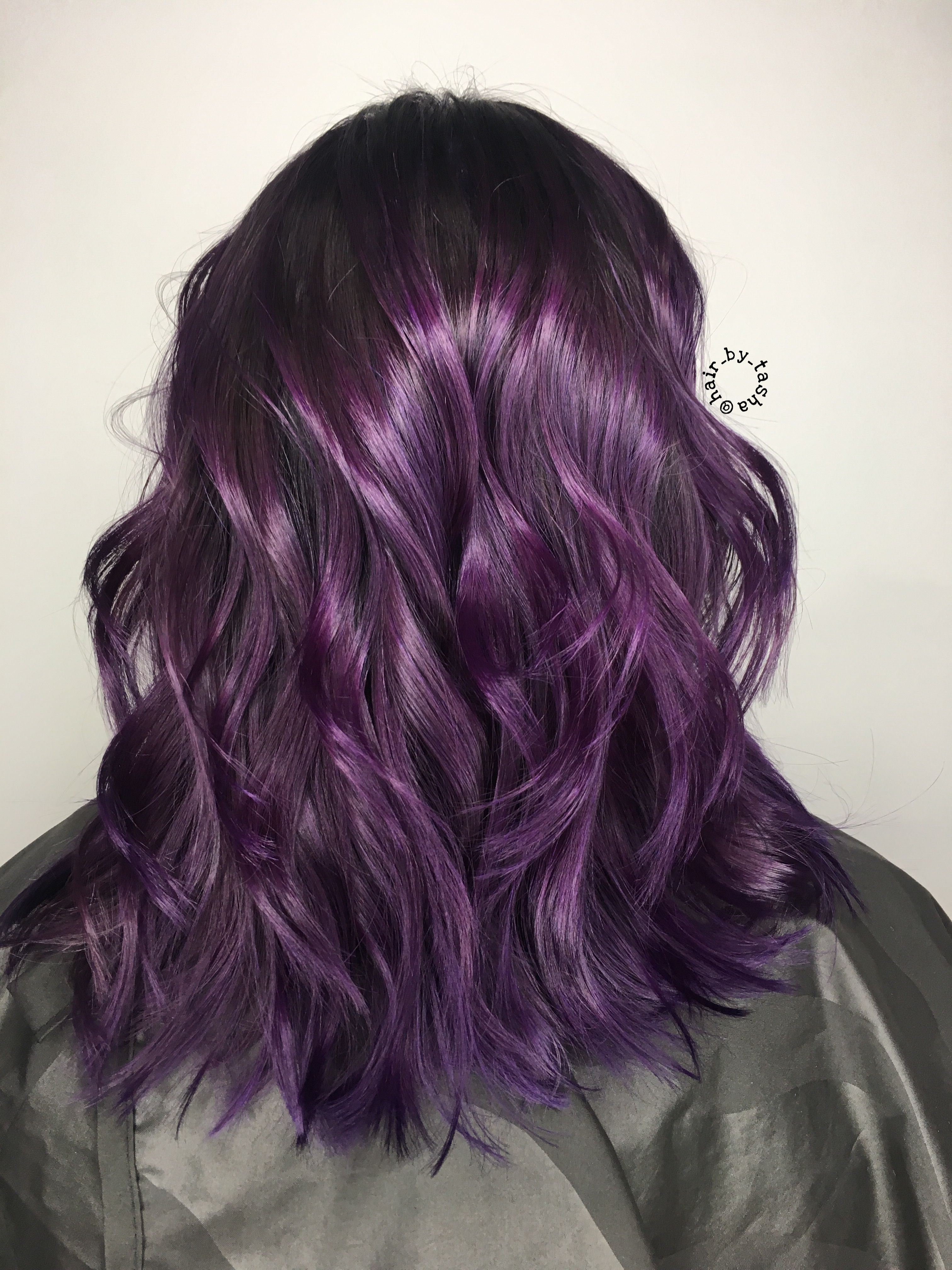 Purple hair, winter hair color, unique color ideas, plum ...