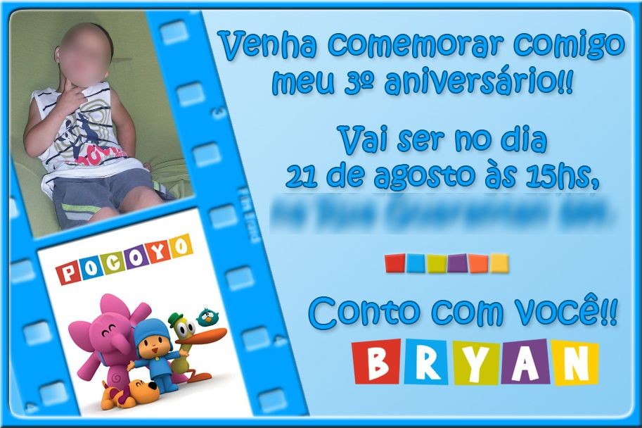 Convite Aniversário Infantil