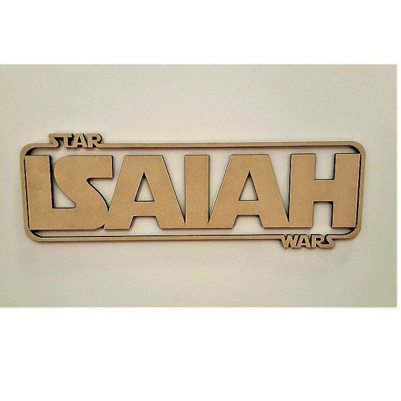 Custom Star Wars Name with Wooden Backing