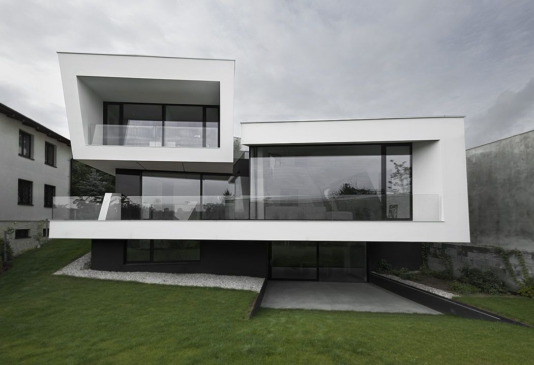 Closer Architects Designed This Stunning Futuristic Two Story Residence  Located In Prague, Czech Republic