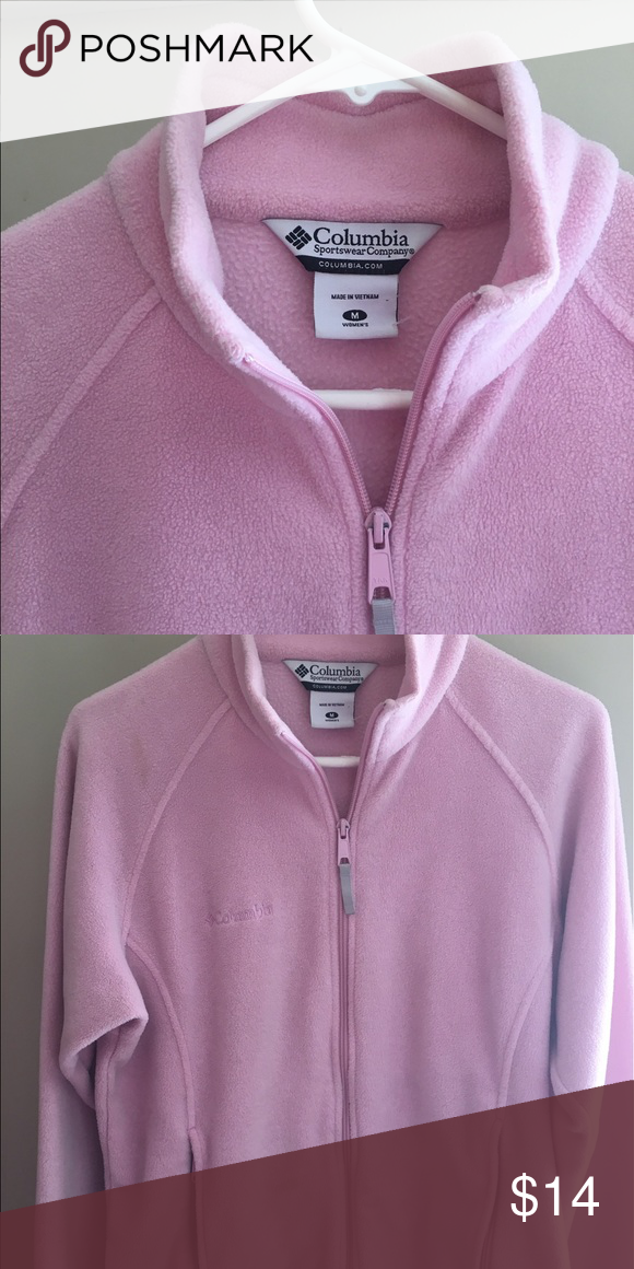 a712687ff Columbia Fleece Jacket- Pink Soft and warm