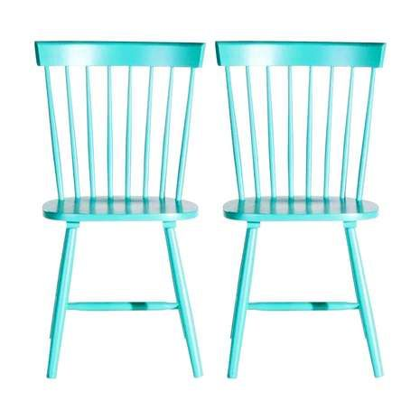 Crofton Blue Pair Of Spindle Back Chairs Dining Room