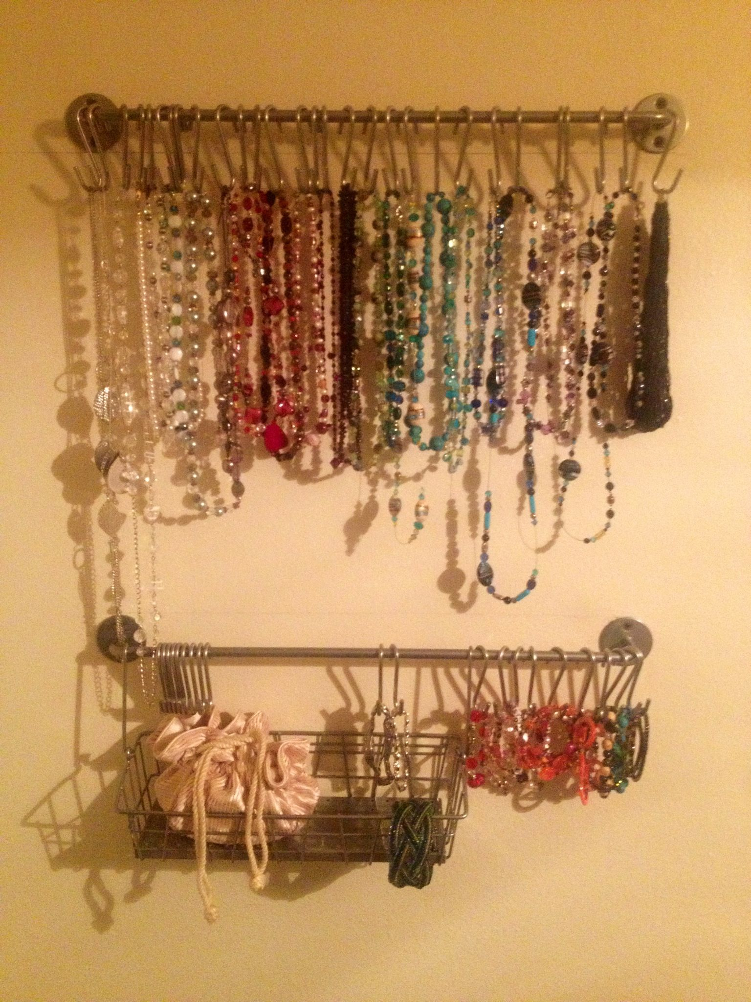 Ikea Jewelry Hanger :) | Things for My Wall | Pinterest | Hanger ...