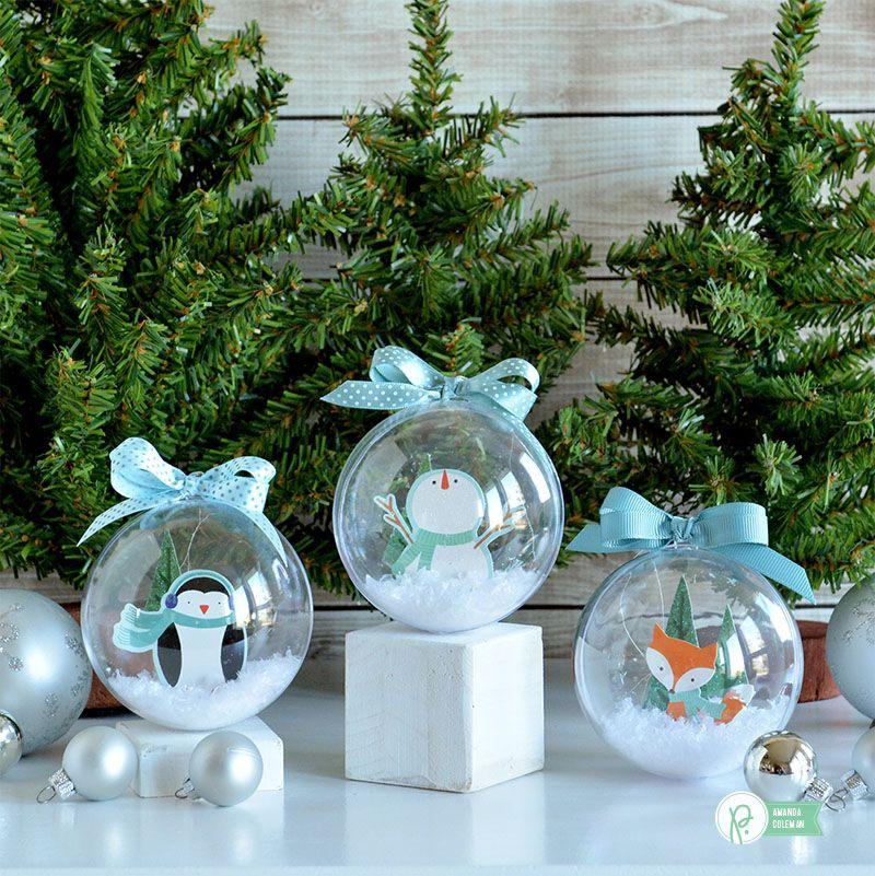 Snow Globe Ornaments Pebbles, Inc. Christmas snow