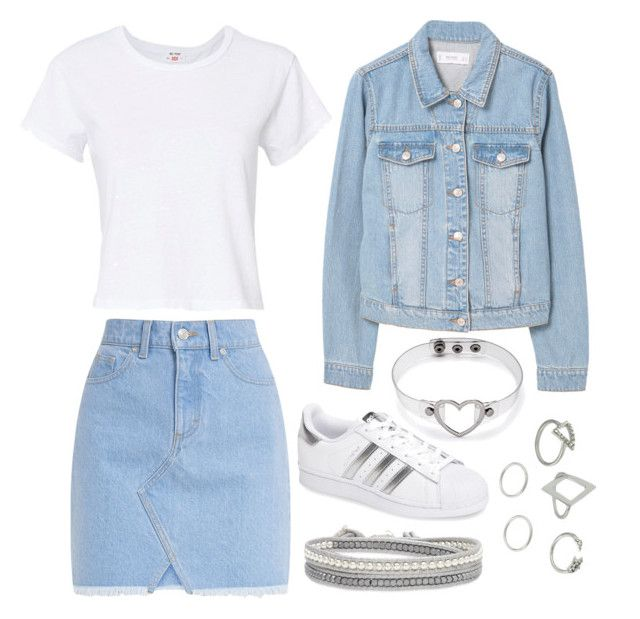 """""""Untitled #120"""" by kira-volkov on Polyvore featuring RE/DONE, MANGO and adidas"""