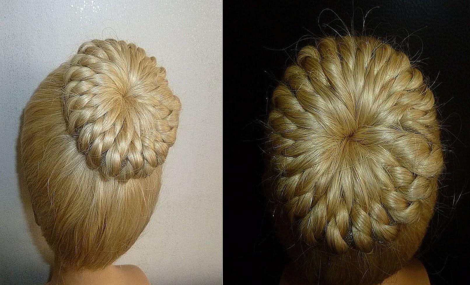 Einfache Frisur Flechtfrisur Zopffrisur Mit Duttkissen Dutt Donut Hair B Trenzas Peinados Recogidos