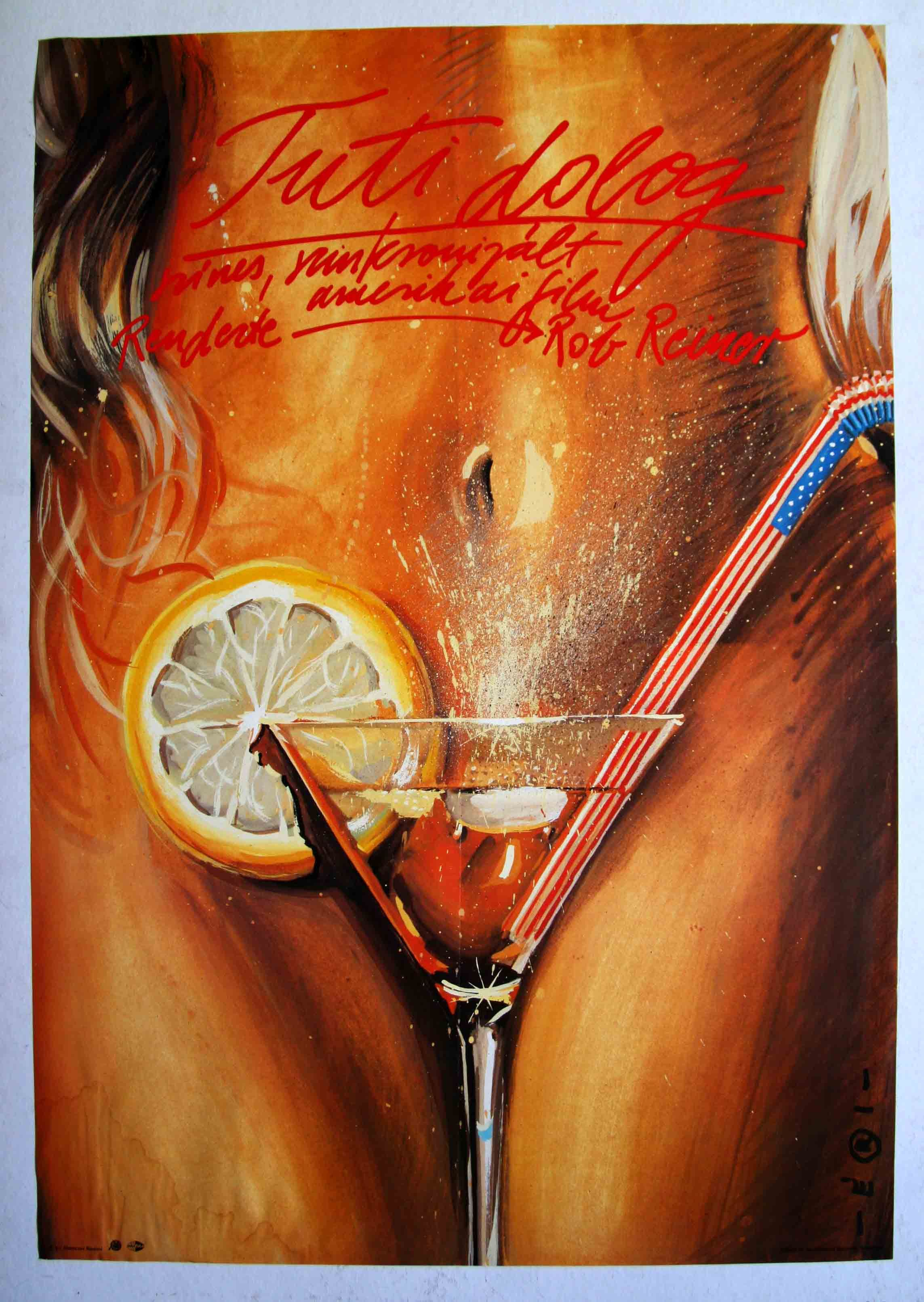 "Tuti dolog (1985)""The Sure Thing""  Director: Rob Reiner  Hungarian vintage movie poster Artist by:Éri Jenő Tamás"