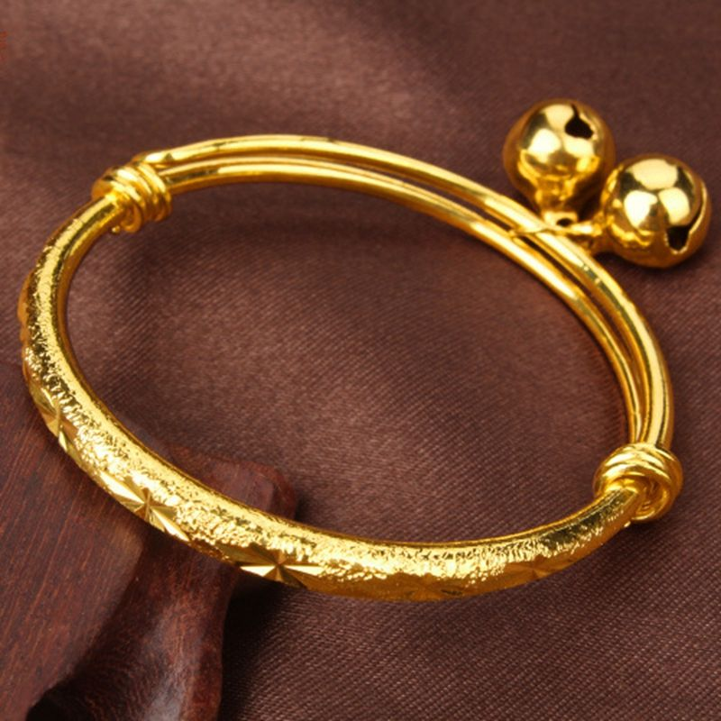 Carved Expandable Bangle Yellow Gold Filled Children\'s Bangle ...