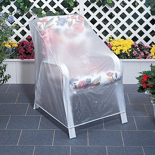 Set Of 2 Outdoor Vinyl Clear Chair Furniture Protector Cover
