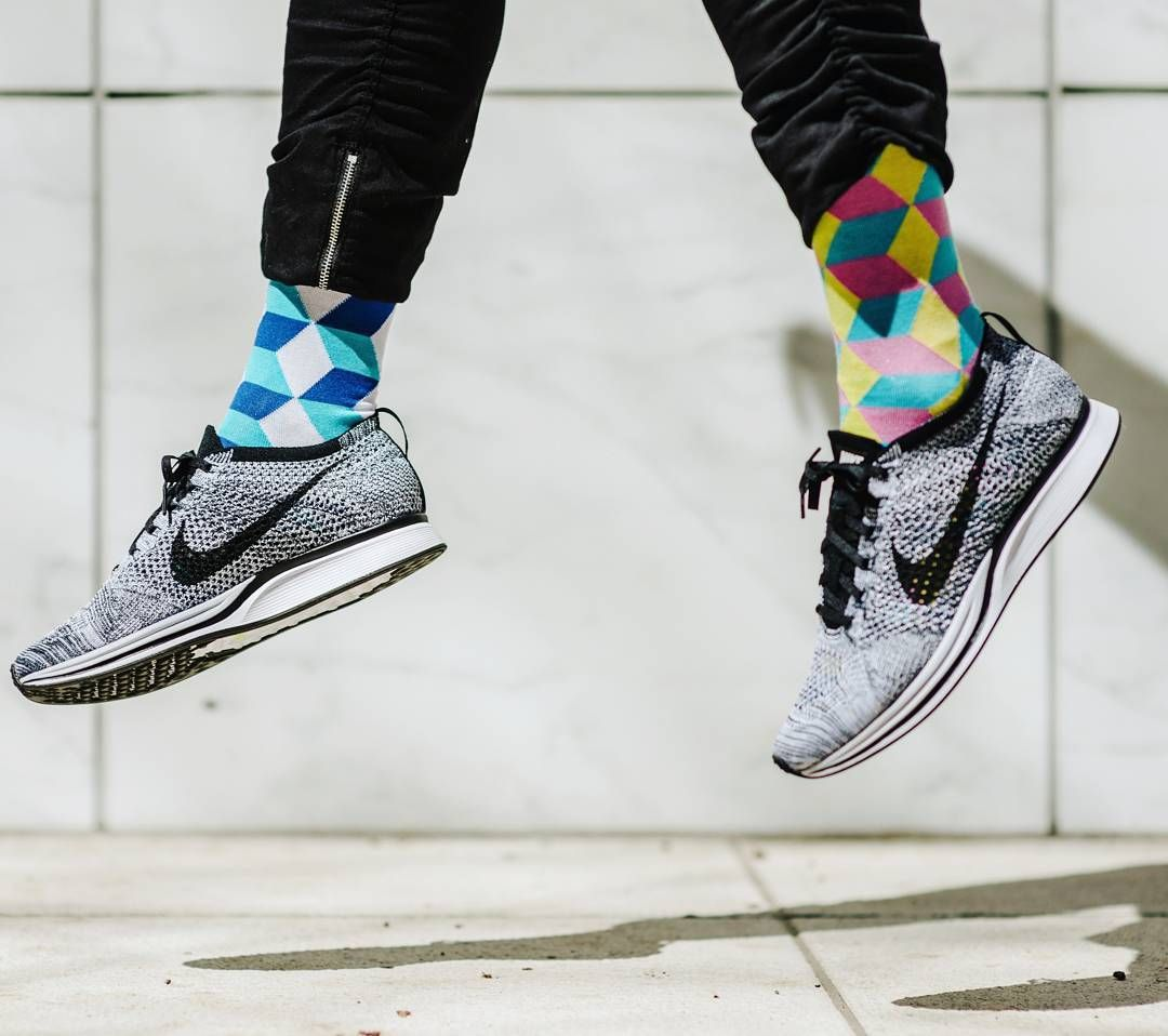 Cool socks with some nikes. Time to bring color and style to your sock  drawers