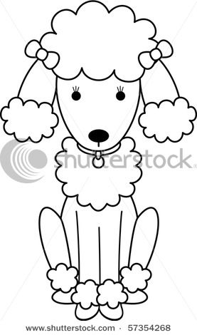 Printable Black and White Art | Picture Of A Black And White Poodle