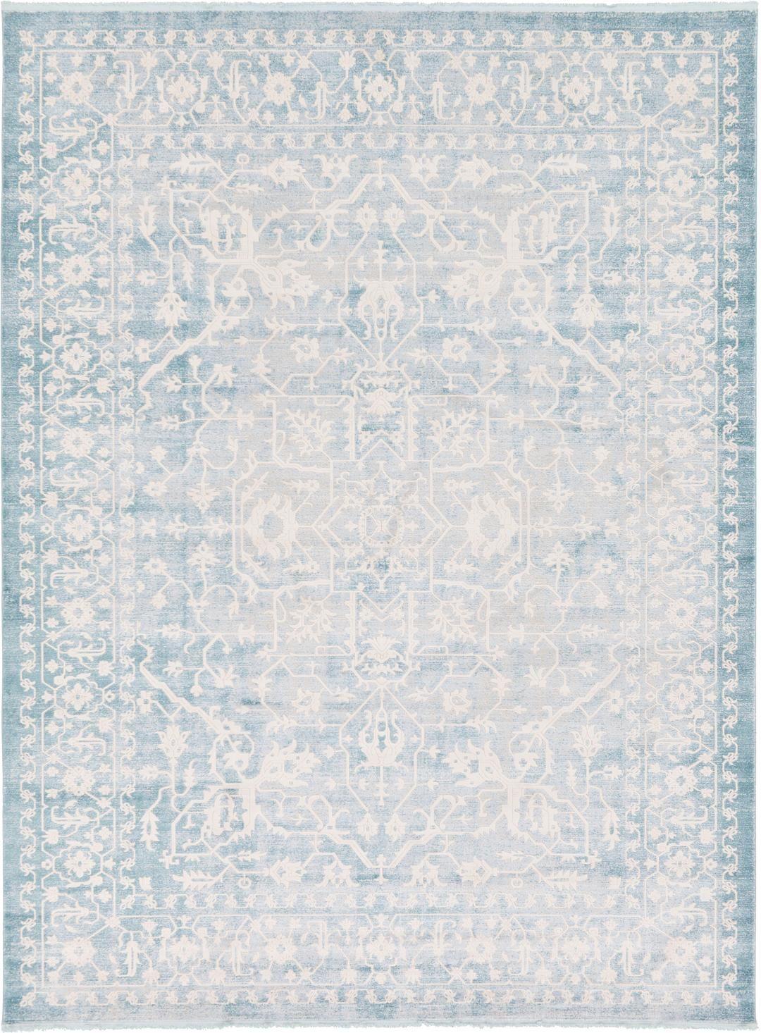 Light Blue 10u0027 X 13u0027 New Vintage Rug | Area Rugs