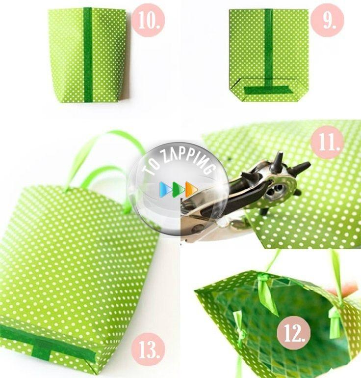 C mo hacer una bolsa de papel hacer bolsas de papel es - Como hacer bolsas de regalo ...