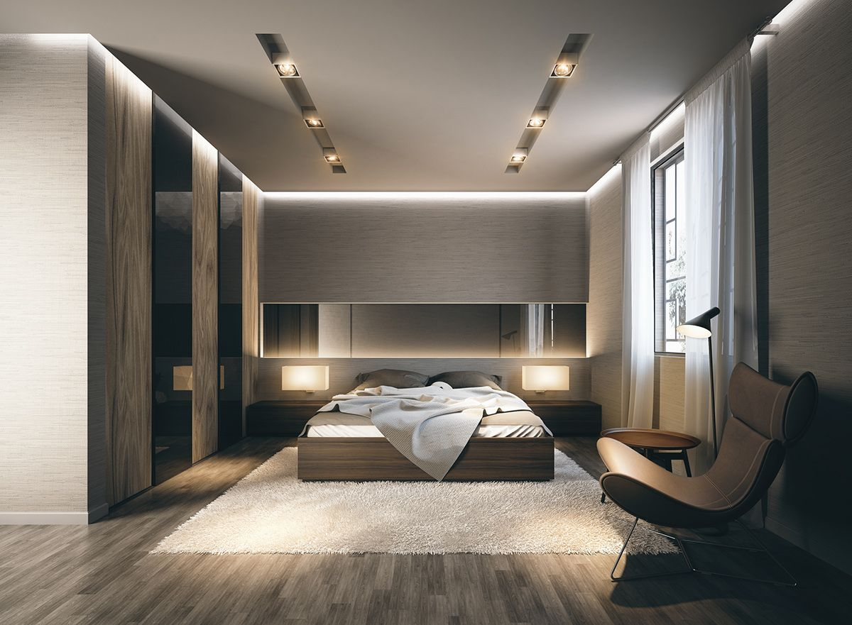 modern bedroom habitaciones modernas #bedroom | Techos in ...