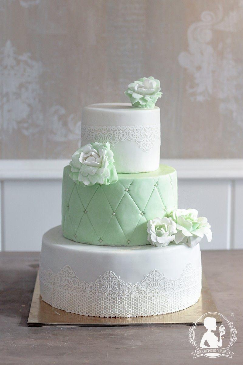 Hochzeitstorte vintage grun