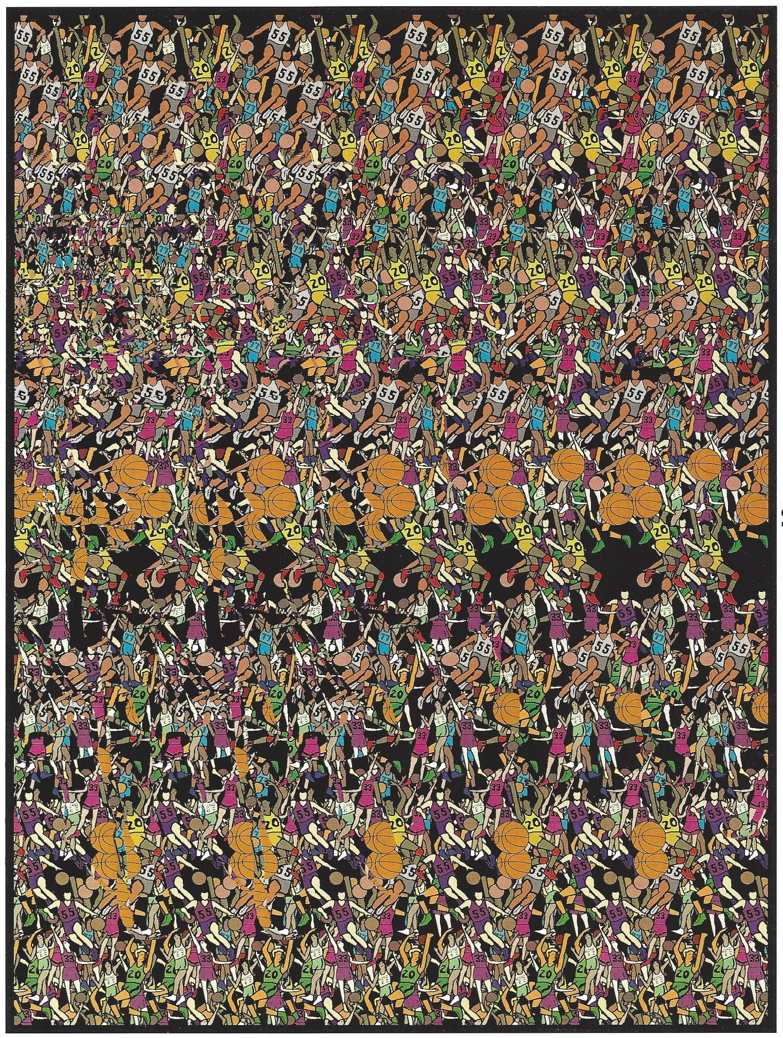 En 3d Basketball Optical Illusions Art Magic Eye Pictures Illusion Pictures
