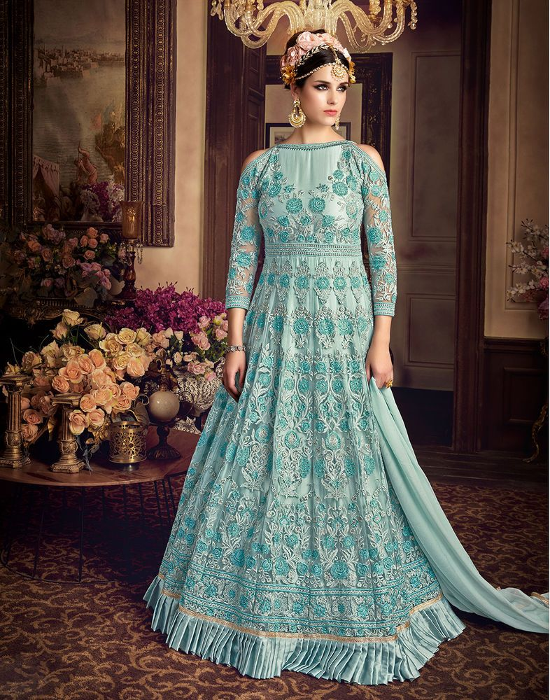 Indian Premium Bollywood Wedding Wear Salwar Suits Ethnic Dress ...