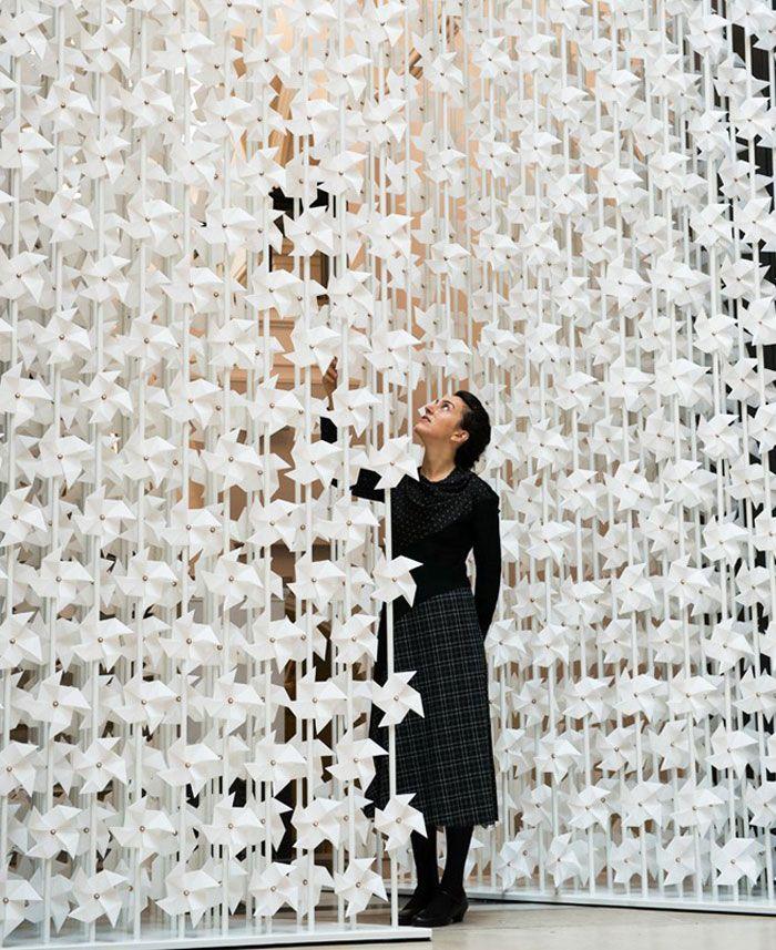 Kunst Installation von Windmühlen #artinstallation