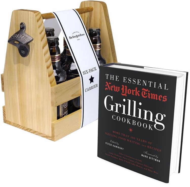 New York Times Barbecue Bundle - Love the beer holder - and my husband can never get enough barbeque books!