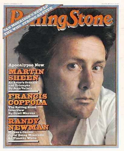 Martin Sheen on the cover of Rolling Stone