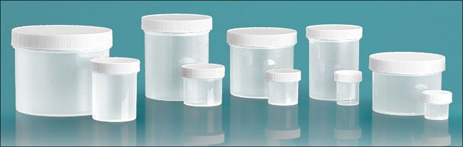 These would be perfect to make homemade lip gloss.     Plastic Jars, Natural Polypropylene Jars w/ White Unlined Screw Caps