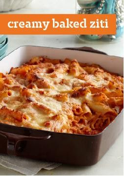 Creamy Baked Ziti Recipe Kraft Recipes Recipes Baked Ziti