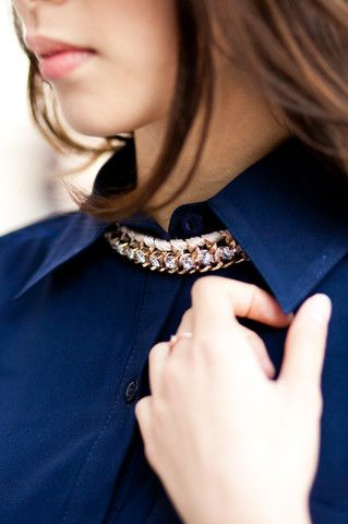 Chain Statement Sweater Necklace