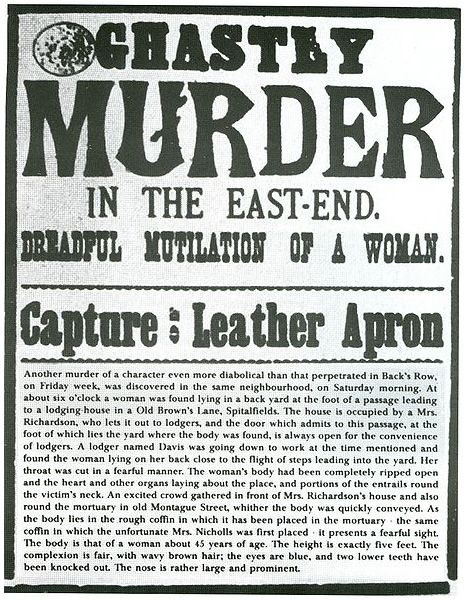 """Jack the Ripper Wanted Poster 
