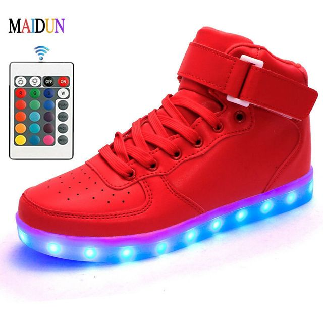 Remote Control sneakers gym led dance