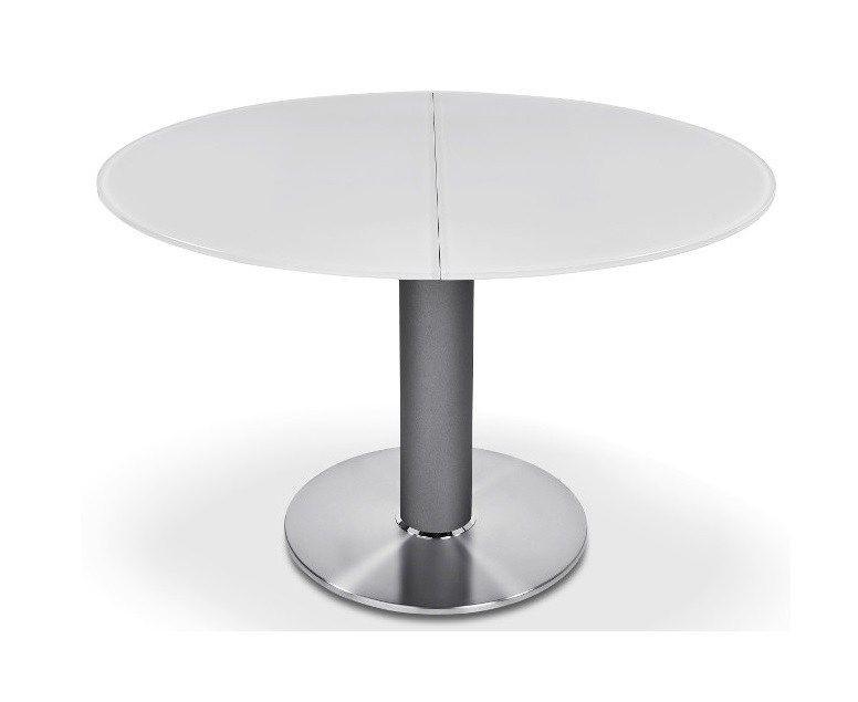 Glazen Meubels ~ Ronald schmitt p ronde eettafel glas uitschuifbaar tafels