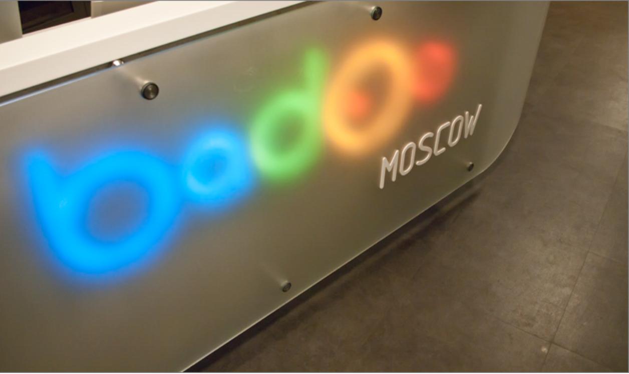 translucent reception desk